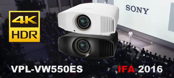 Máy chiếu Sony VPL-VW550ES có độ phân giải 4K HDR (4096 × 2160 Pixel)